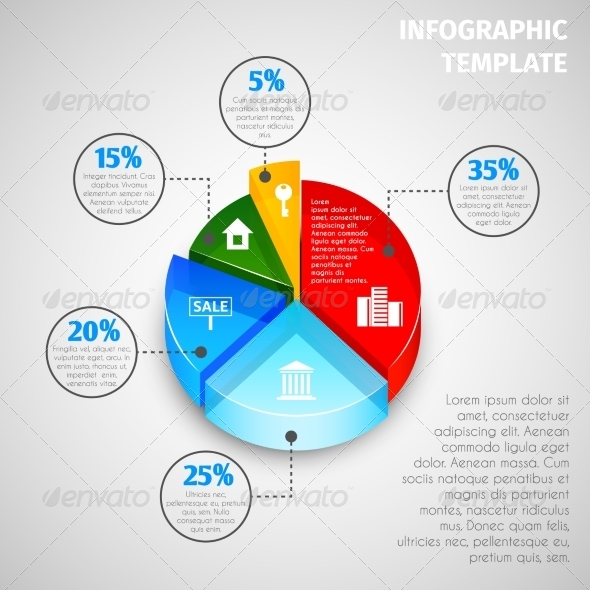 GraphicRiver Pie Chart Real Estate Infographic 7631753
