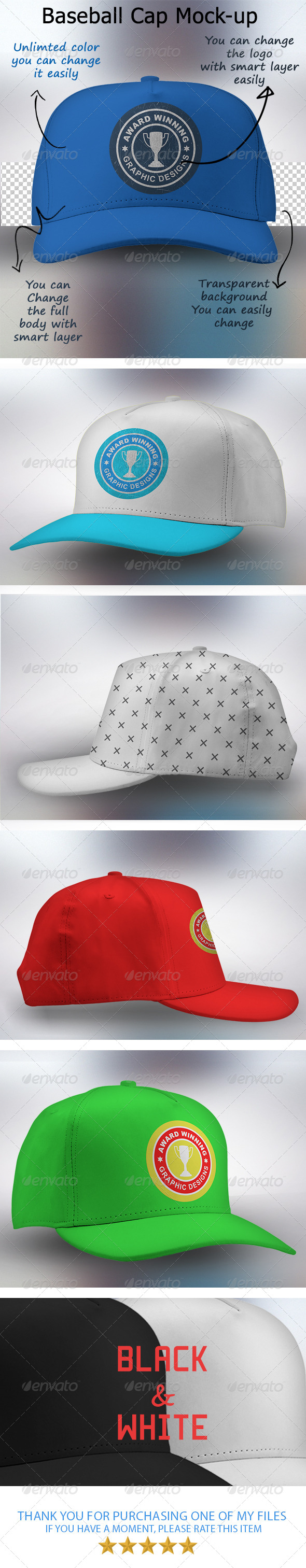GraphicRiver Baseball Cap Mock-up 7631754