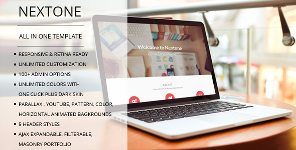 Nextone - One & Multi Page Joomla Template