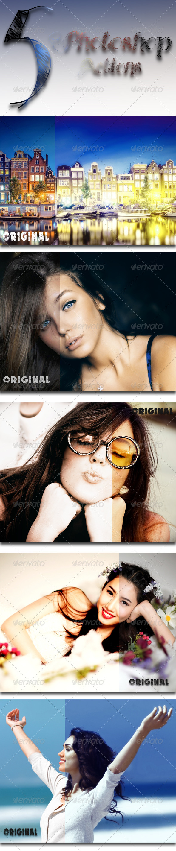 GraphicRiver 5 Photoshop Actions 7631990