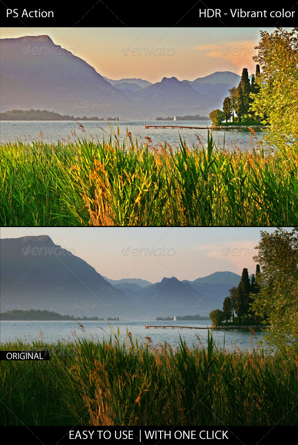 GraphicRiver HDR Vibrant color PS Action 7632072