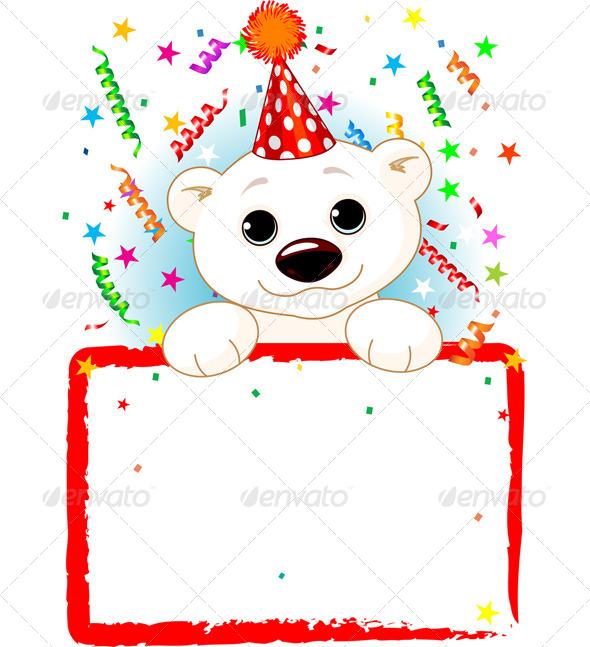 GraphicRiver Polar Bear Cab Birthday 7632093