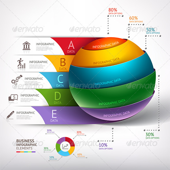 GraphicRiver Modern Infographic Circle Ball Template 7632277