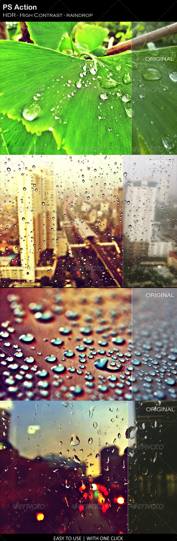GraphicRiver HDR Raindrop PS Action 7632403
