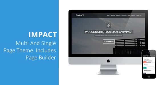 Impact - Multipurpose Single/Multi Page Theme - Creative WordPress