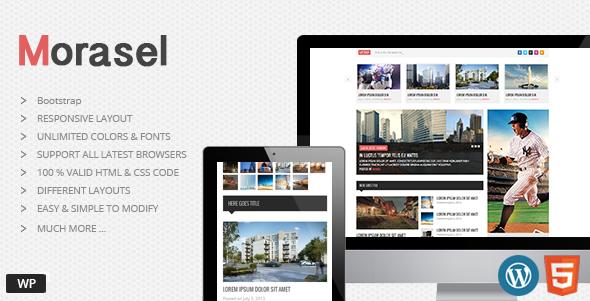 ThemeForest Morasel Responsive News and Magazine WordPress 7632918