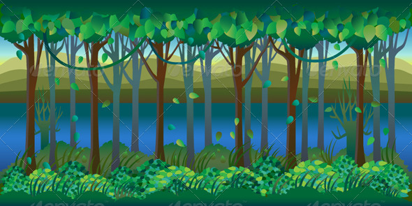 GraphicRiver Forest by Riverside 2D Background 7633435