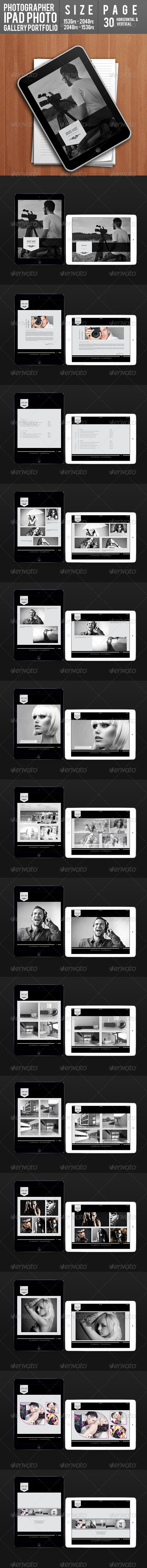 GraphicRiver Photographer Ipad Photo Gallery Portfolio 7633934
