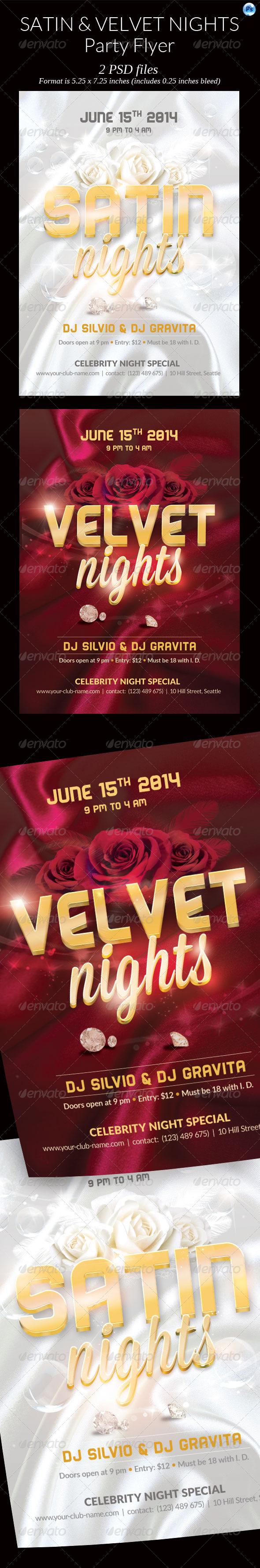 GraphicRiver 2 Satin Velvet Night Party Flyer 7613736
