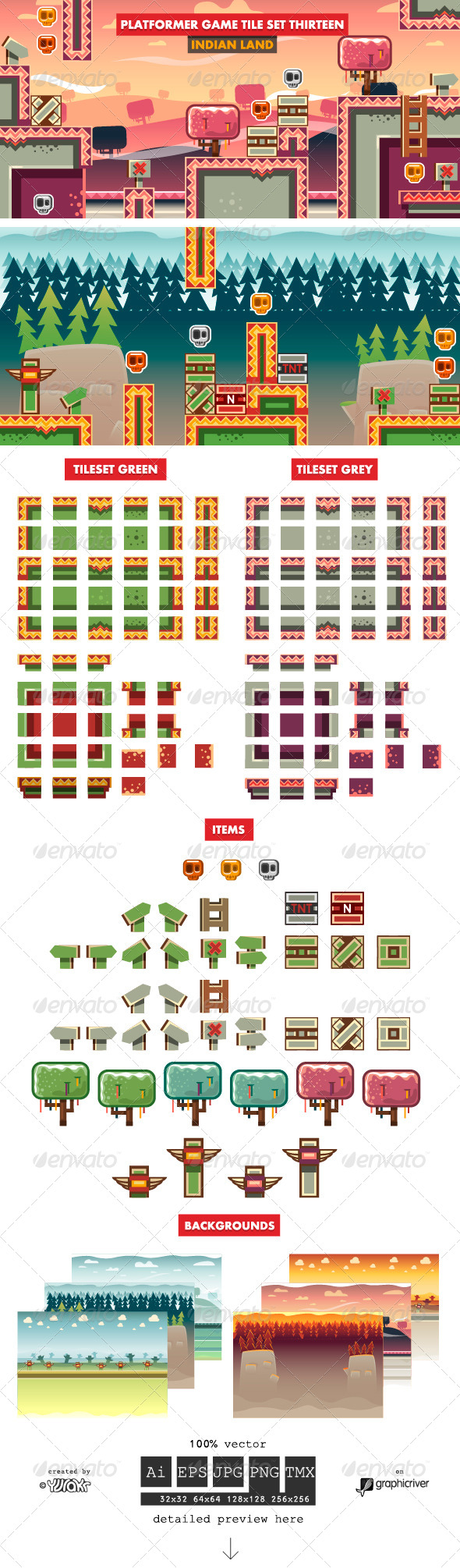 GraphicRiver Platformer Game Tile Set Thirteen 7634431