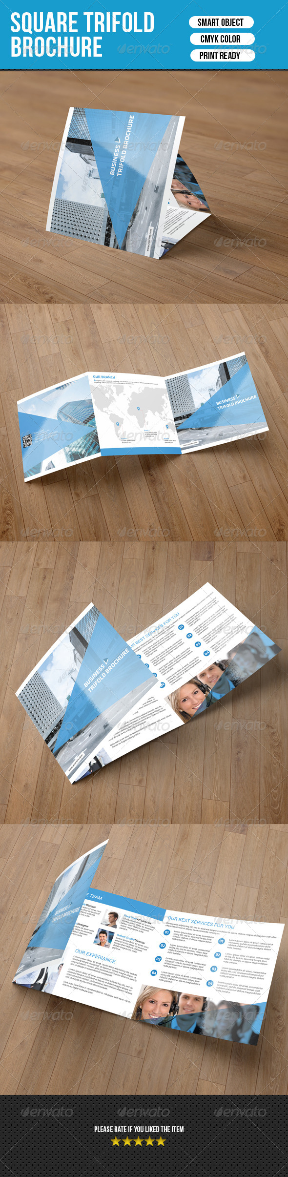 GraphicRiver Square Trifold Brochure-Business 7634561