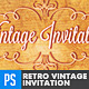Retro Vintage Invitation Template - GraphicRiver Item for Sale