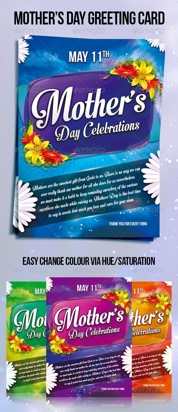 GraphicRiver Mother s day greeting card 7634626