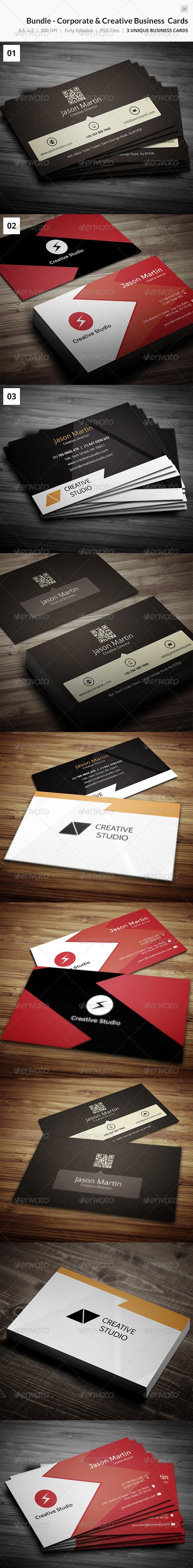 GraphicRiver Bundle Creative & Corporate Business Cards 28 7634815