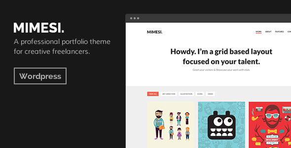 ThemeForest MIMESI Creative Portfolio Theme for WordPress 7495542
