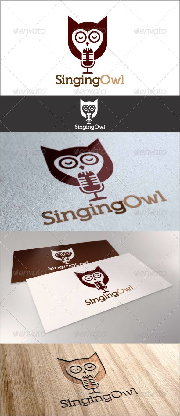 GraphicRiver Singing Owl Logo 7611433