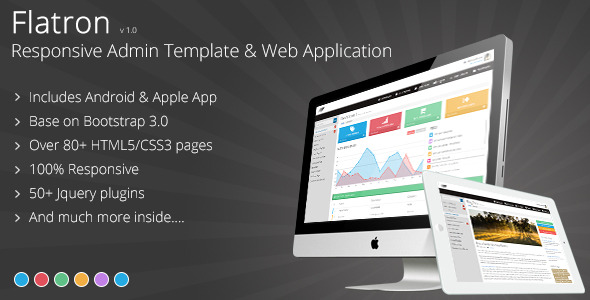 Flatron - Responsive Admin Template & Web App