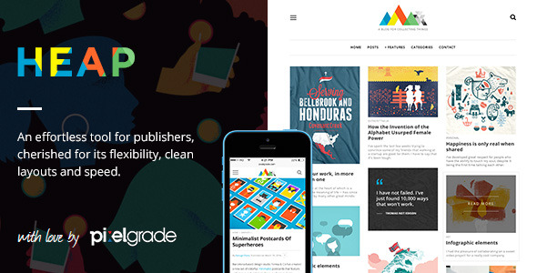 HEAP - A Snappy Responsive WordPress Blog Theme