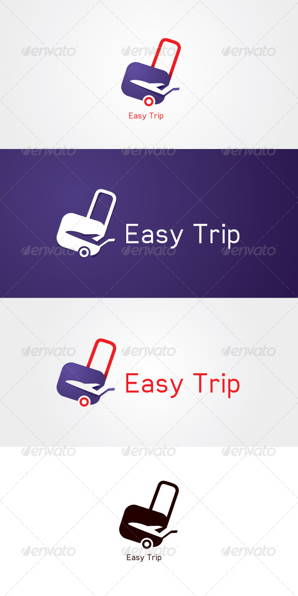GraphicRiver Easy Trip Stock Logo Template 7636648