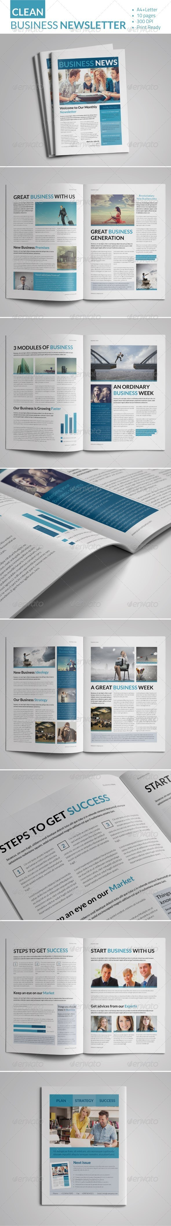 GraphicRiver Clean Business Newsletter 7636667