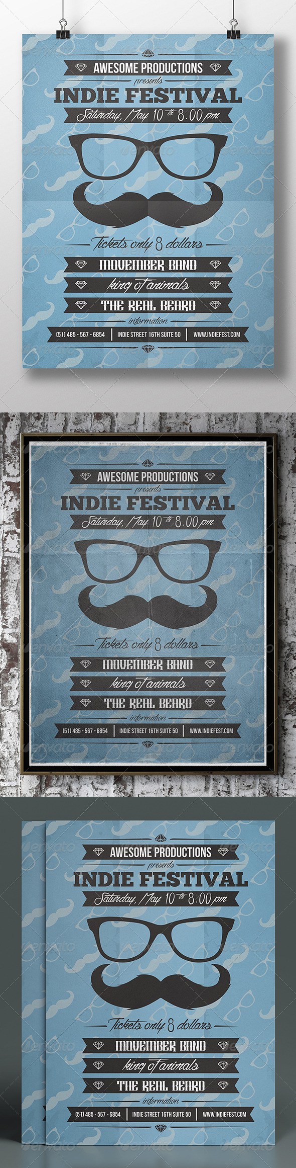 GraphicRiver Movember Party Flyer 7636953