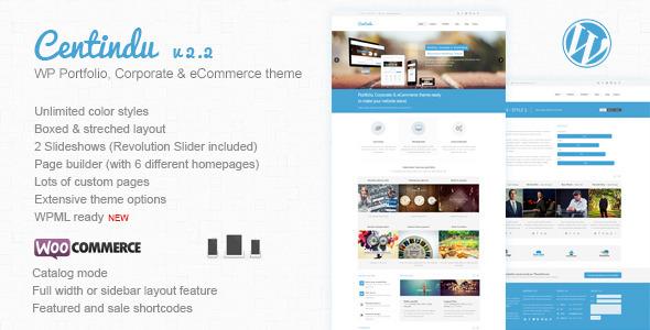 Centindu Portfolio & Shop WordPress Theme - WooCommerce eCommerce