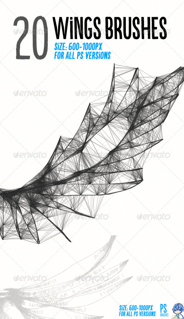 GraphicRiver 20 Wings Brushes 7637308