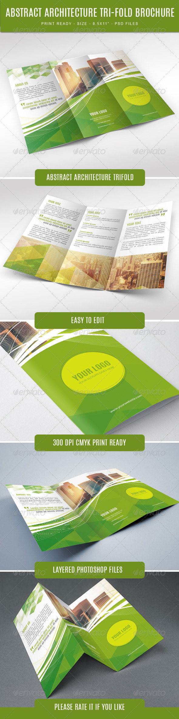 GraphicRiver Abstract Modern Trifold 7637329