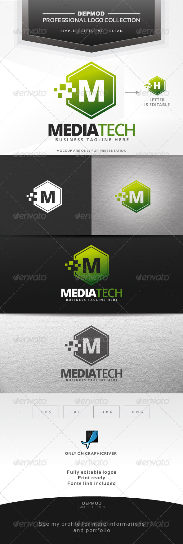 GraphicRiver Media Tech Logo 7637343