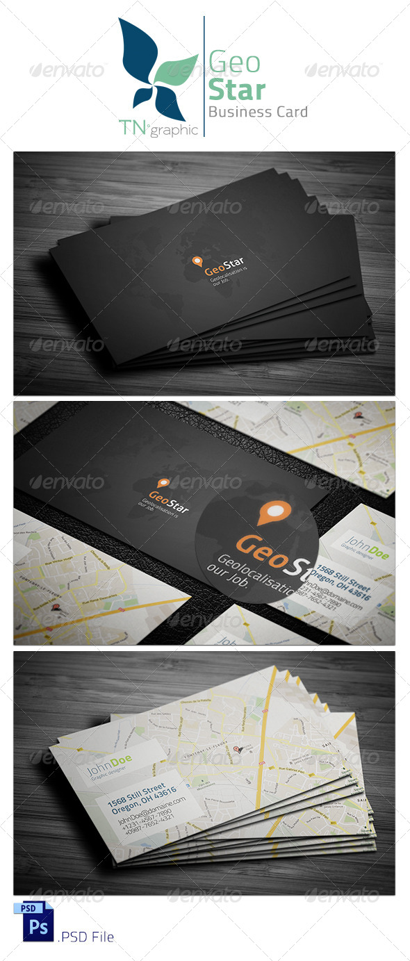 GraphicRiver GeoStar Business Card 7637382