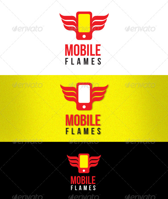 GraphicRiver Mobile Flames Smart Phone 7615727