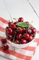 Ceramic Bowl of organic Cherries - PhotoDune Item for Sale