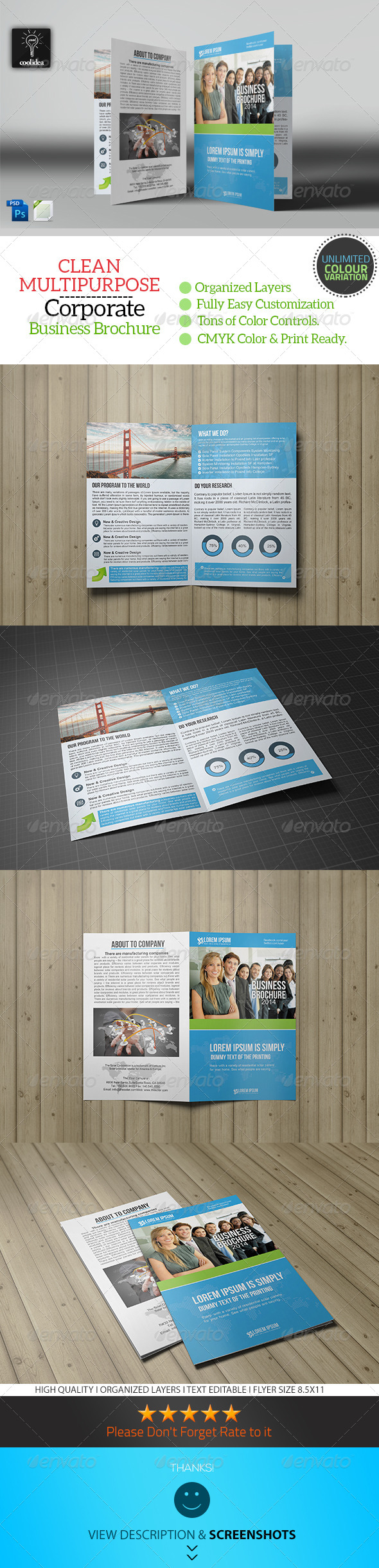 GraphicRiver Bifold Business Brochure Template Vol02 7637567