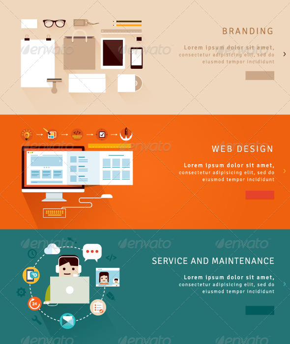 GraphicRiver Web Design and Branding Concepts 7612579