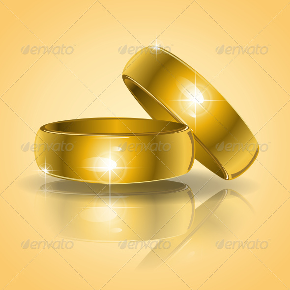 GraphicRiver Gold Wedding Rings 7637678