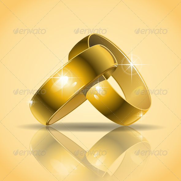 GraphicRiver Gold Wedding Rings 7637679