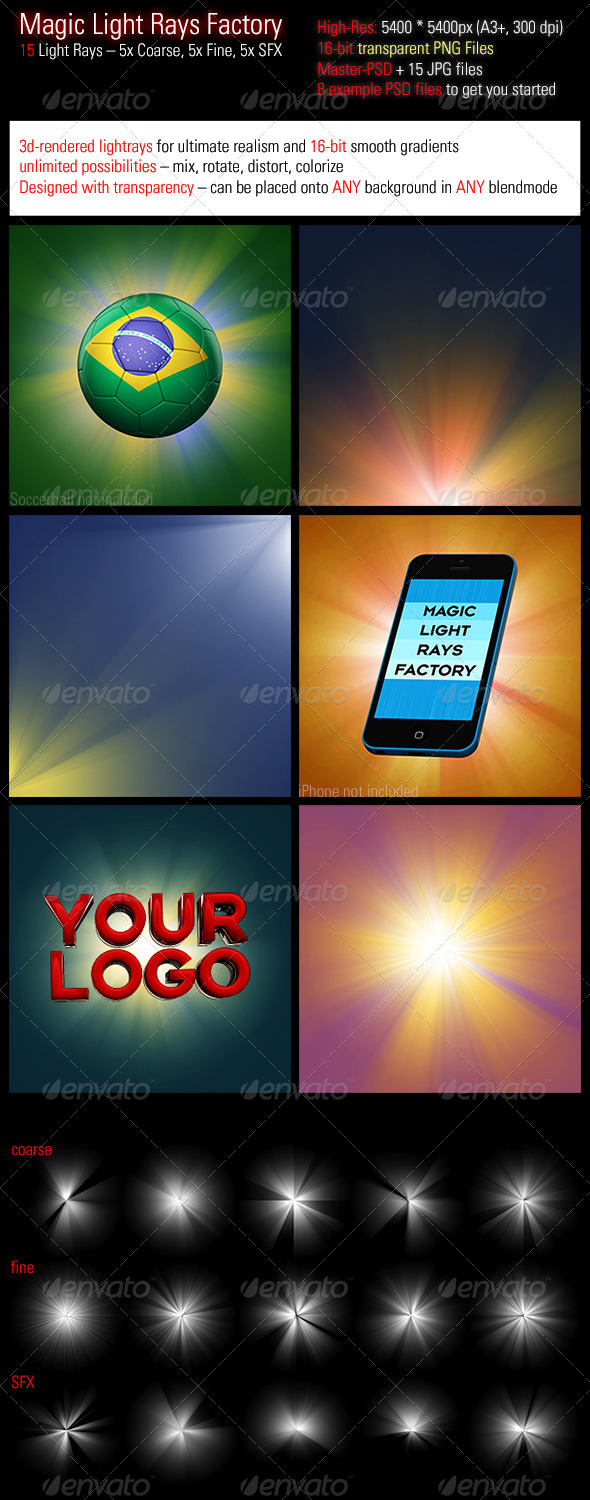 GraphicRiver Magic Light Rays Factory 7595726