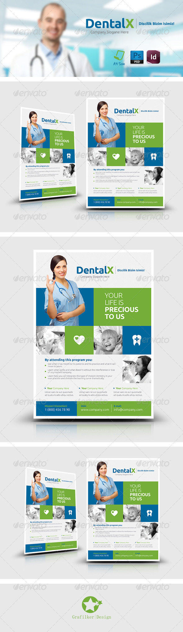 GraphicRiver Dentist Flyer Templates 7638460