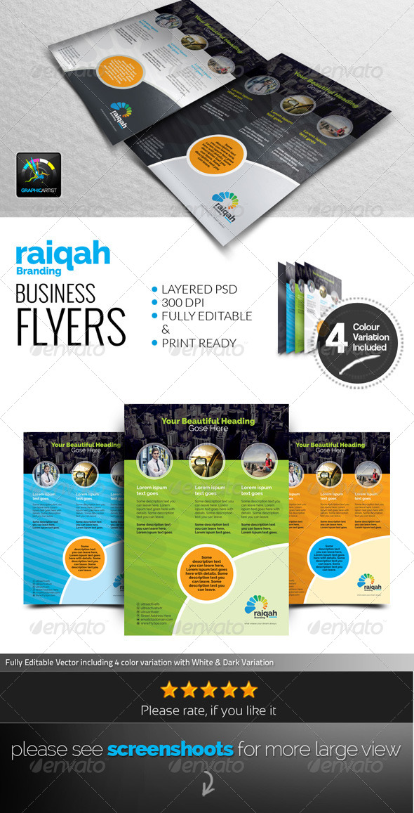 GraphicRiver Raiqah Corporate Flyers 7638469