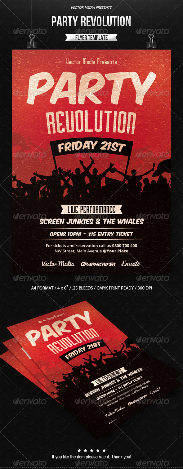 GraphicRiver Party Revolution Flyer 7638603