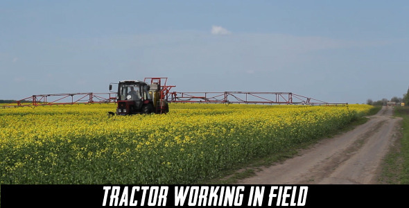 Tractor Working In Field 5
