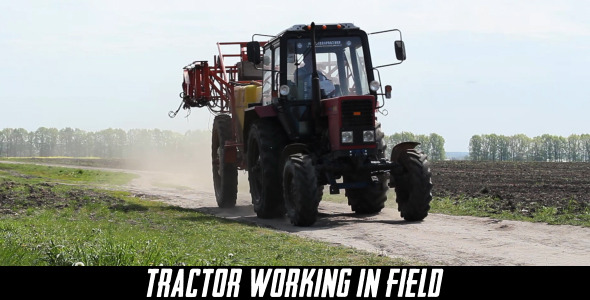Tractor Working In Field 6