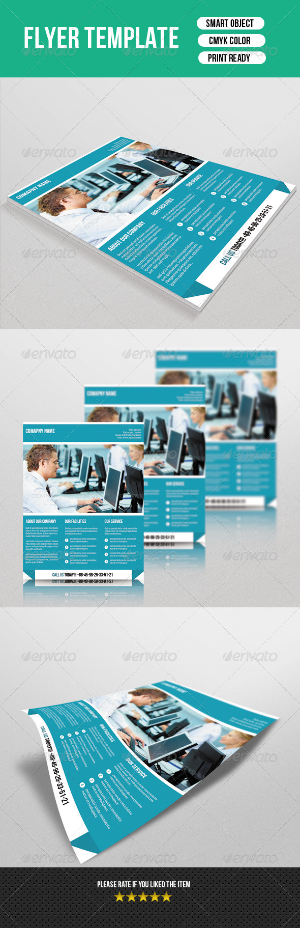 GraphicRiver Corporate Flyer Template 7638739