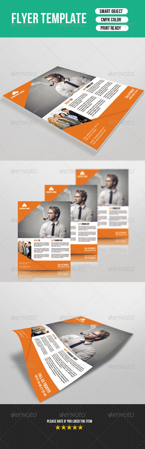 GraphicRiver Business Flyer Template 7638745