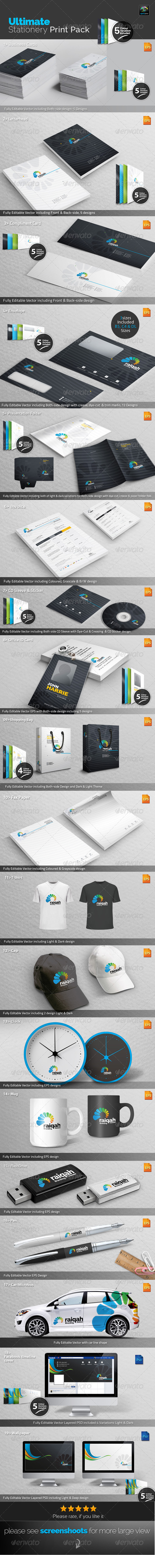 GraphicRiver Raiqah Stationery Print Pack 7638766