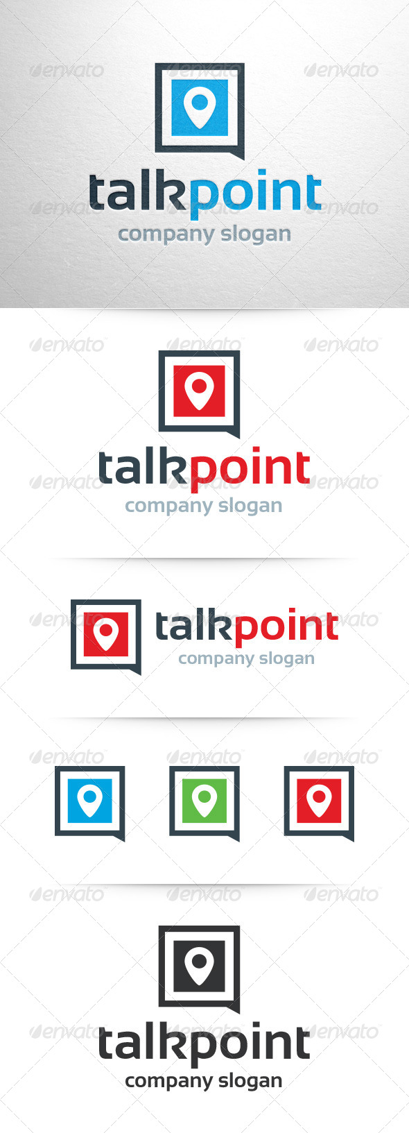 GraphicRiver Talk Point Logo Template 7638852