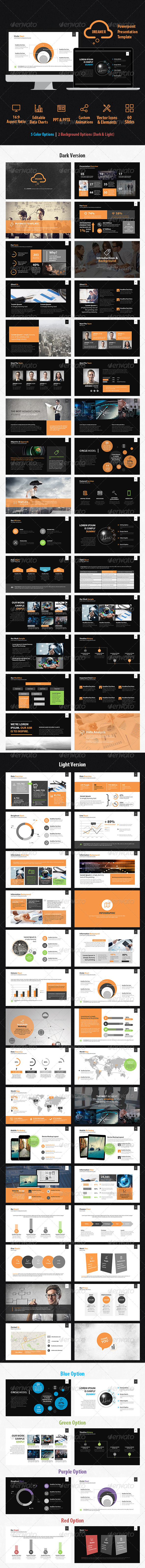 GraphicRiver Dreamer Powerpoint Presentation Template 7629768