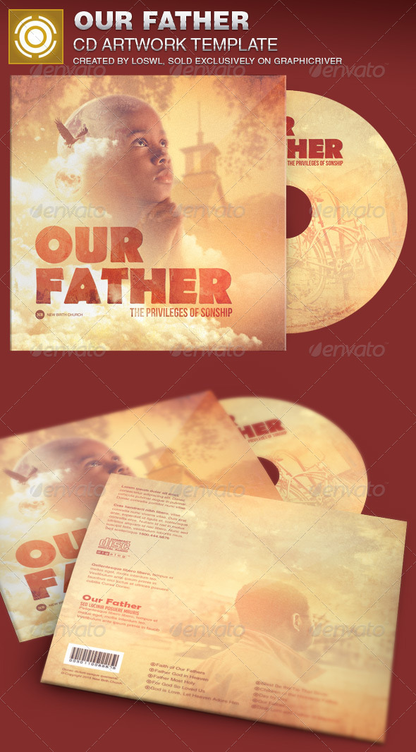 GraphicRiver Our Father CD Artwork Template 7639293