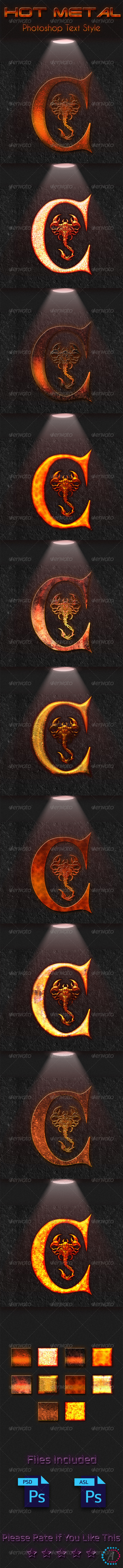 GraphicRiver Hot Metal Text Style UHD 7639313