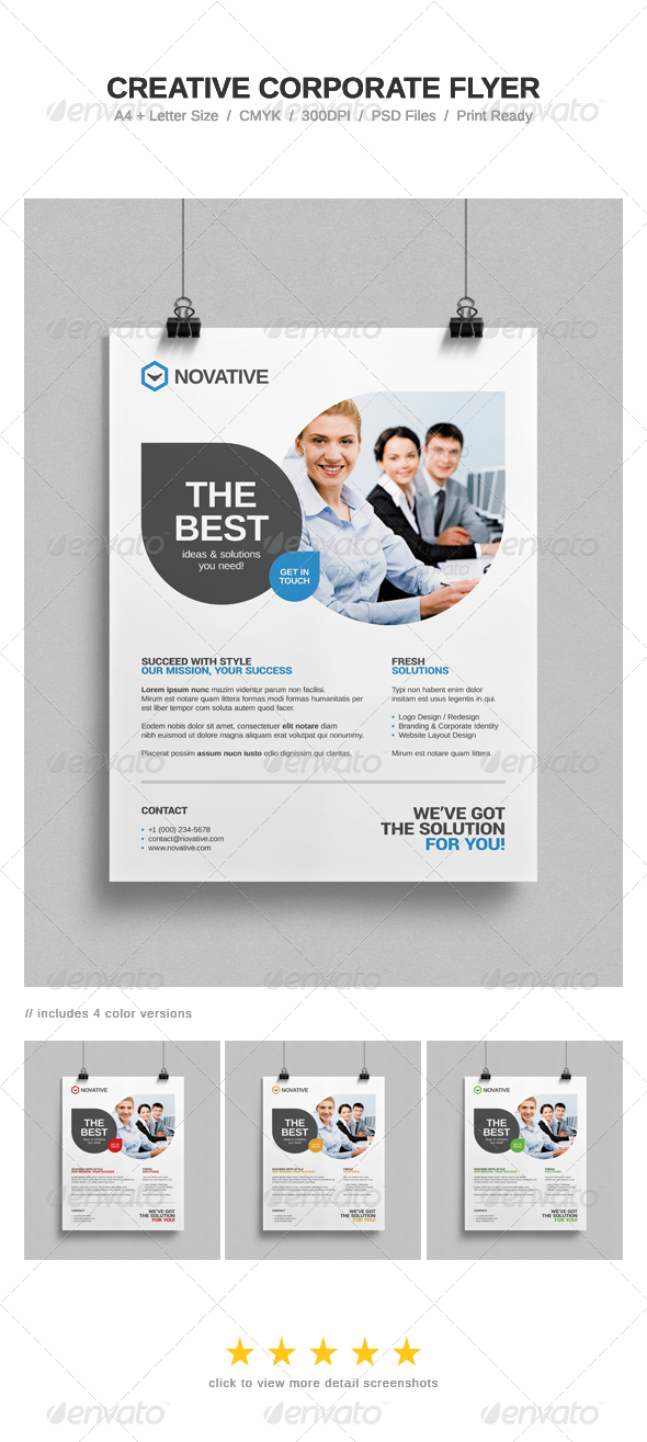GraphicRiver Creative Corporate Flyer 7639351